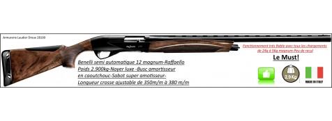 """Semi automatique- Benelli-Raffaello -Cal 12/magnum-Canon 71 cm-Crosse en noyer-Chokes inter-Éprouvé B.Acier-Busc caoutchouc et sabot  """"mécanique"""" anti recul-""""Promotion""""-Ref 23093"""