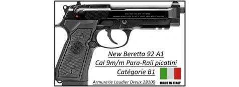 Pistolet-Beretta-92A1-Semi-automatique-Calibre 9 para-Catégorie B1-Promotion-Ref 23118