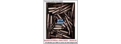"""Cartouches- Surplus-CIP-STV- 7.62x39-blindées-123 grains-7.97 grammes FMJ- Par 1000 cartouches-""""Promotion""""-Ref 23348 ter"""
