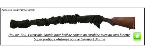 Etui-chaussette-housse-extensible-pour fusils ou carabines-(avec ou sans lunette)-Long 1m60-Ref 28198