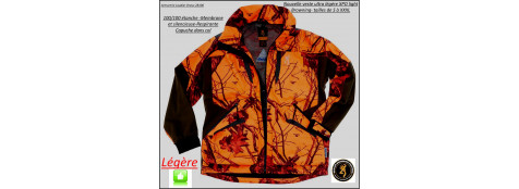 "Veste -Browning-XPO-Light-Camo orange-Imperméable-Respirante-Super légère-taille S-M-L-XL-XXL-XXXL-""Promotion"""