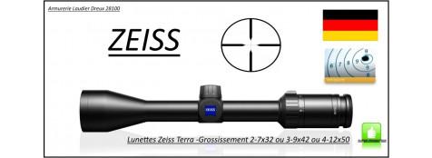 Lunettes -Zeiss-Terra 3X-Réticule-20 -grossissement -2-7 x 32 ou 3-9 x 42 ou 4-12x50- Allemandes- à colliers-Promotion