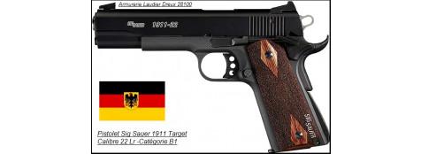 Pistolet-SIG SAUER-Calibre 22 Lr-Semi automatique-Modèle 1911-Target-Catégorie B1-Promotion-Ref 24397