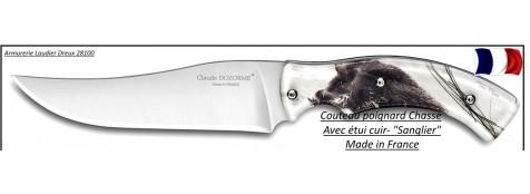 Couteau-poignard-chasse-Claude Dozorme-Sanglier-Ref 25227