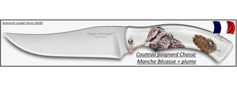 Couteau-poignard-chasse-Claude Dozorme-Bécasse-Ref 25228