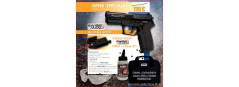 Pistolet-à-propulsion-CO2-Culasse métal- Cal. 6 mm-OFFRE SPÉCIALE JANVIER -FEVRIER -MARS-2016 -Ref 26636