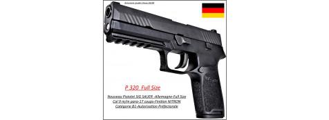 Pistolet-Sig Sauer-P320-Full Size-Noir-Calibre-9 Para-Semi automatique-Catégorie B1-Promotion-Ref 26702