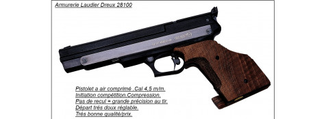 Pistolet-GAMO-Cal. 4,5 m/m-air comprimé-Mod  Compact-Pour DROITIER ou GAUCHER-Crosse anatomique réglable -Entrainement  compétition.
