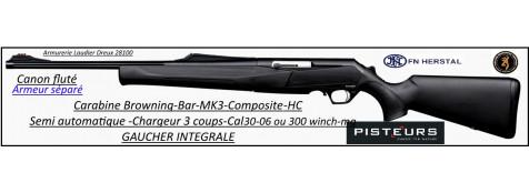 Browning-®MK3-HC-semi automatique-composite-Gaucher intégrale-armeur séparé-Calibre 30-06-ou- 300 winch-mag-bande-battue-Promotions