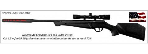 Carabine-air comprimé-Crosman-Red Tail-NP-Calibre 4.5m/m-Crosse synthétique-19.90 joules-+kit lunette 3x9x32-Nitro piston-Promotion-Ref 27634