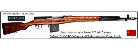 Carabine-SVT-40-Tokarev-Semi-automatique-Russe-Calibre-7.62x54R-Catégorie B2A-Ref 28313