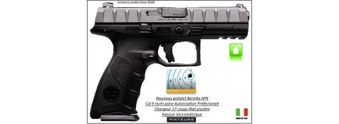 Pistolet-Beretta-APX-Calibre-9 Para-Semi automatique-Catégorie B1-Promotion-Ref 29501