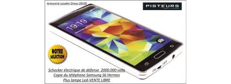 """Shocker-Appareil-défense-électrique-téléphone-S6-Hermes-2000.000 VOLTS-Plus lampe LED-""""Promotion""""-Ref 29634"""