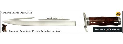 Dague-chasse-Muela-urial-manche-bois-cocobolo- lame 19 cm -Ref 30919