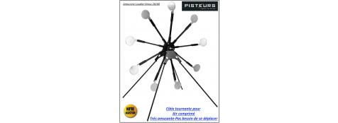 Cible-tournante-9 cibles-calibre-air-comprimé-Pisteurs-Ref 31297