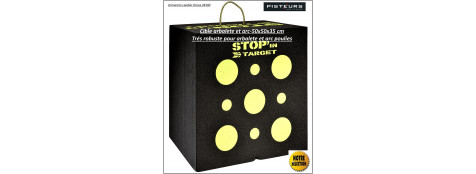 Cible-cube-stop-mousse-compressée-arbaletes-arcs-trés-épaisse-50x50x35-ref31354