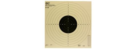 Cibles de tir cartonnées 50X50cm-Paquet de 10 cibles.Ref 1855