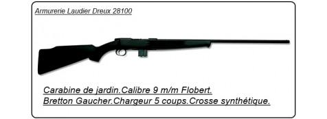 Carabine BRETTON GAUCHER GA St Etienne, Cal 9mm.Répétition 5 coups.Crosse synthétique.Ref 5914