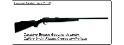 Carabine BRETTON GAUCHER St Etienne G9. Cal 9mm, 1 coup, Crosse synthetique.Ref 5916