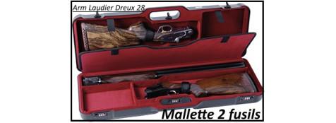 Mallette- 2 fusils-entiers -pour-superposé-ou-juxtaposé --Ref 7368