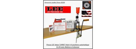 Presse-Lee-value-4-hole-Turret-press-KIT-tourelle-rechargement-avec-balance-et- doseuse -Promotion-Ref L90928-tec