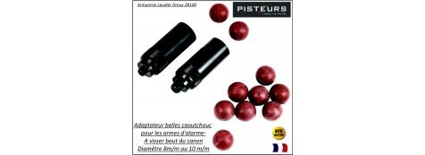Lance-balle-caoutchouc-de-protection-pour-alarmes-SAPL-Diamêtre-8 m/m-ou-10 m/m