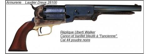 """Révolver Uberti """"Walker""""-Canon bleuté -Cal 44 poudre noire.""""promotion"""".Ref 778"""