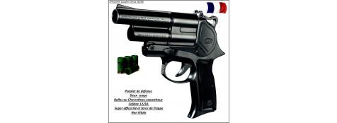 """Pistolet Gc 54 DA- Défense- balles caoutchouc  double action-Cal 12/50-""""Promotion""""-Ref 7945."""