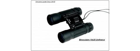 Jumelles de poche binoculaires Unifrance  10 X 25. Caoutchouctée.Ref 7995