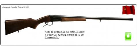 Fusil-un coup-Baïkal -Cal12mag-EJECTEUR-Canon 71cm-Ref 1984