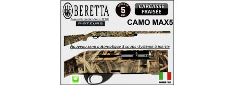 Fusil-semi automatique -Beretta-Bellmonte I-CAMO -MAX5- système inertie-3 coups-Crosse synthétique Camouflée -Calibre 12 magnum- 3 Mobilchokes-Canon 76 cm--Promotion-Ref 23307 ter