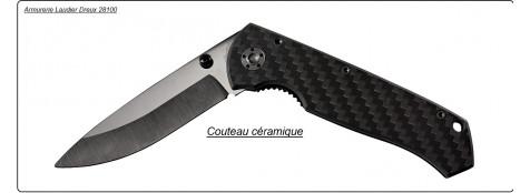 Couteau lame céramique noire LUKECANDO.ref 17182.