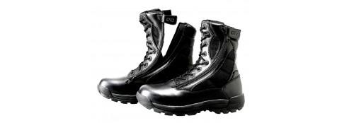"Chaussures d'intervention GK-- en cuir et toile-- avec double Zip incurvé.---""Groundspeed Field Twin Zip"".Tailles 39-40-41-42-43-44-45-46-47"