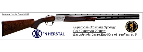 Superposé-Browning -Cynergy Hunter- Grade 3 - 20 Magnum- Canons 71cm-Ref 12970