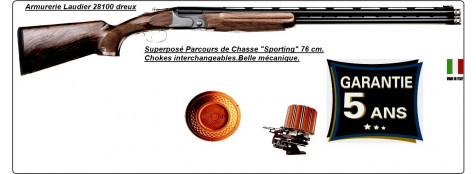 "Superposé Fair Sporting RACING.Cal 12 mag.Canons 76 cm.Busc réglable.""Promotion"".Ref DC47 SP Racing"