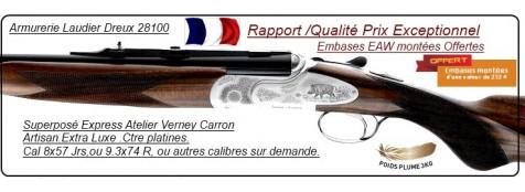 "Superposés Express PRESTIGE -Verney  Carron.Extra Luxe ---Ctre platines Cal  8x57 Jrs,ou 9.3x74R .""Promotions""."
