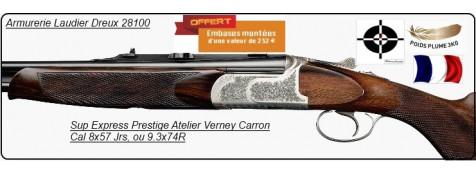 """Superposés Express PRESTIGE -Atelier Verney  Carron. Artisan. Cal 8x57 Jrs,ou 9.3x74R. ULTRA LEGERS.""""Promotion""""."""
