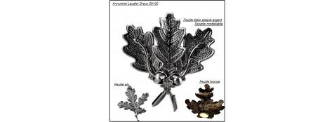 Feuilles-chêne-pour-montage-de-grès-de-sangliers- 3 modèles Feuilles chêne.