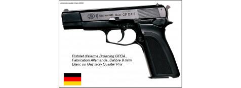 Pistolet -alarme et défense- Browning GPDA- à blanc /gaz-.Cal. 9 mm.Ref 5650
