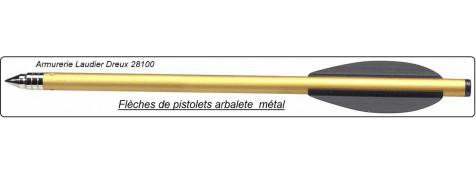 Blister de 10 traits alu,  pour pistolet arbalète. Ref 18649