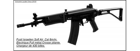 Fusil d'assaut électrique GALIL SAR Cybergun- Cal. 6 mm billes.Ref 15199