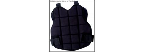 Gilet de protection de poitrine Paint ball ou Soft air--.Taille unique Noir.Ref 11081