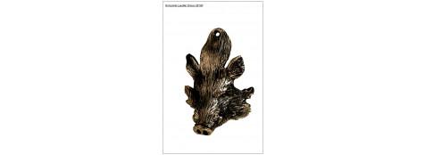 Hure de sanglier miniature en bronze pour grés de sangliers. Ref 7133 - CD180 E/A  -CA00413