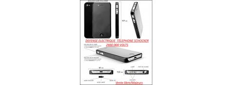 """Appareil- défense-électrique-téléphone Schocker-2400.000 VOLTS-Plus lampe LED-""""Promotion""""-Ref 25847"""
