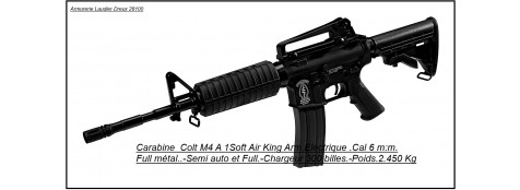 Fusil d'assaut électrique Cybergun- KING ARM-COLT M4 A1.Full métal-Semi et Full Auto- Billes 6mm.