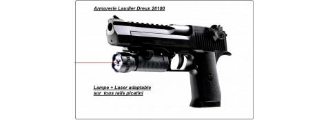 """Laser avec lampe 6 Leds incorporée.""""Promotion"""".Ref 12877"""