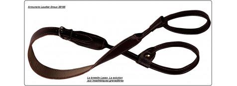 Bretelle- cuir gras- fusil sans grenadières- A lasso- Ref 5487