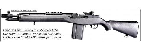 """Fusil  M14 FULL METAL-"""" Spécial Opération""""- électrique Cybergun - Cal. 6 mm-""""Promotion"""".Ref 14256 cyb"""