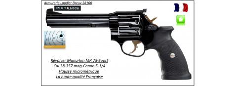 Révolver-Manurhin-MR-73-Calibre-38-357 magnum-Canon-sport -5-1/4 -Catégorie B1-Promotion-Ref MR73