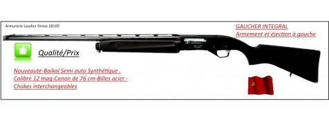 """Semi automatique Baïkal- Mp 155-GAUCHER intégral-Cal 12/76-Canon 76 cm-Crosse en synthétique-Carcasse fraisée-Chokes inter-B-Acier-""""Promotion""""-Ref 23154"""